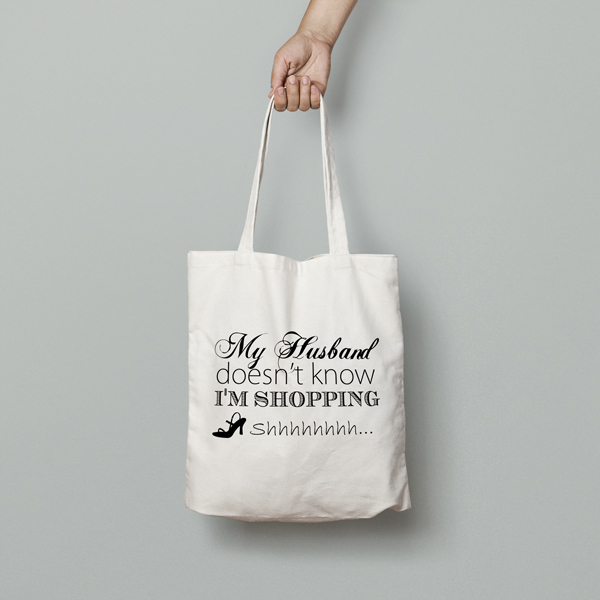 Husband Doesnt Know Im Shopping Tote Bag