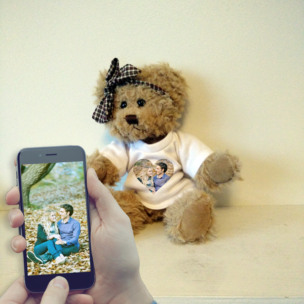 Personalised Lilly the Teddy Bear Front