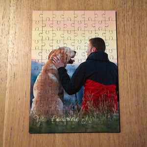 YOU COMPLETE ME PHOTO JIGSAW PORTRAIT