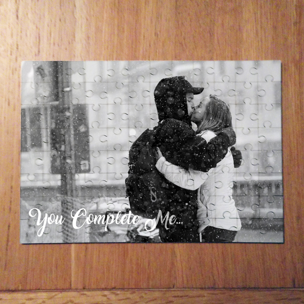 YOU COMPLETE ME PHOTO JIGSAW LANDSCAPE