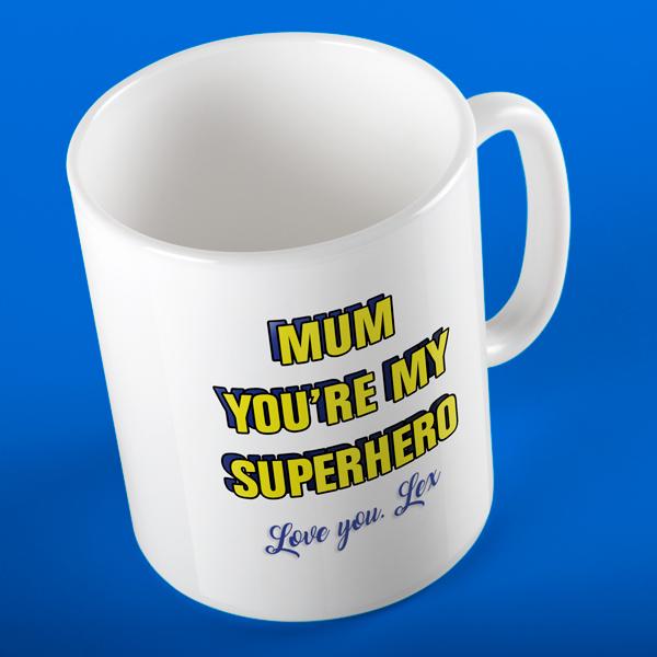 SUPERMUM SUPERHERO PERSONALISED MUG