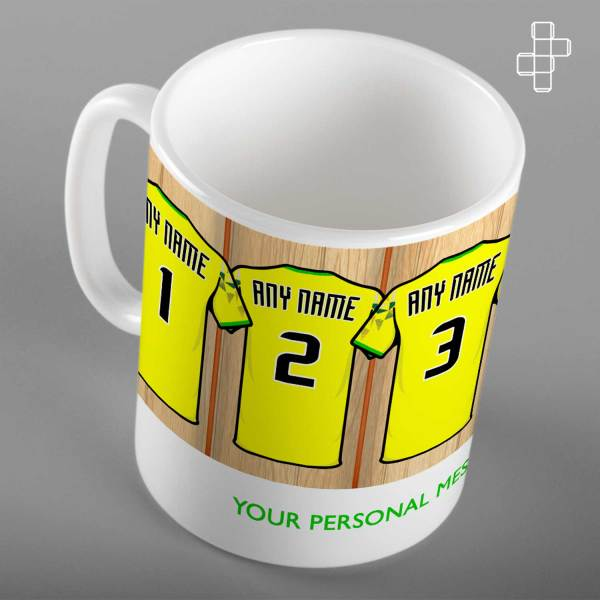 Personalised Norwich City Dressing Room Mug