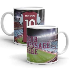 Personalised Aston Villa 2020 Football Mug