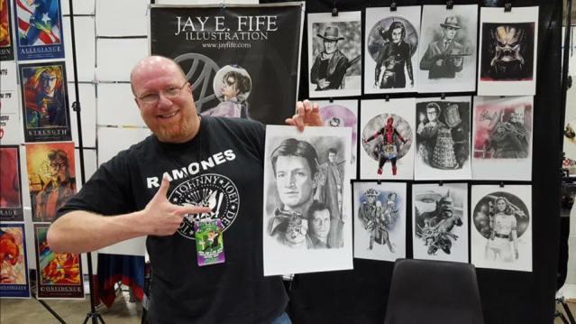 Jay Fife artist NEO Comic Con PRFM Lorain Punk Rock Flea Market