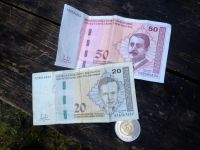 """Mark - the currency - 1:1 to Deutsche Mark and therefore """"konvertibilna marka"""""""