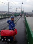 Crossing Danube into the Belgrade old town