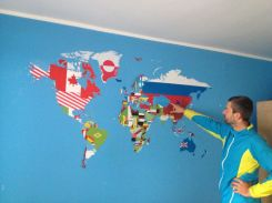 the world map made by our CS host Ivan