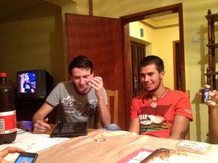 the best singer of Valjevo with Roman the RU couchsurfer