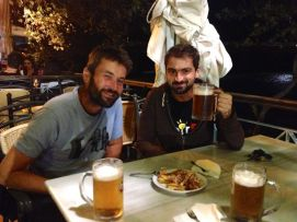 George - our CS host in Arta through 3 days of rain