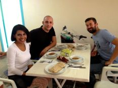 lunch with our hosts Serap and Can