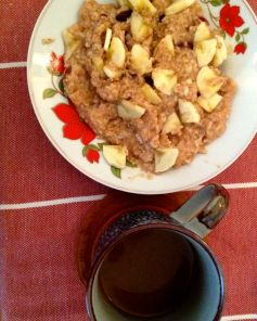 daily breakfast - oats with indian spices, fructose free