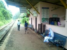 waiting for our train