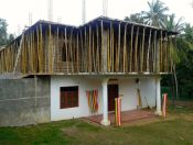 temple construction with bamboo