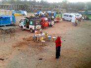 arrival Hampi bus station