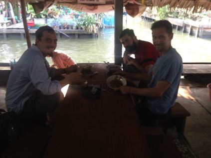 lunch at floating market