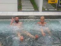 enjoying the Condo's pool