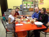 dinner with Kosta and Farah - last time in Sofia, this time - KL