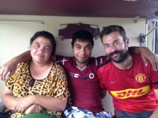 sharing the compartment with two Moldovan gypsies. His name Sasha and his mother in law