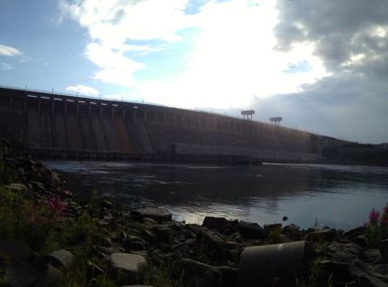 the hydro power plant