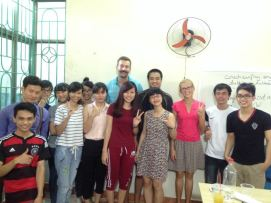 group shot with the students
