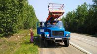 a GAZ crane