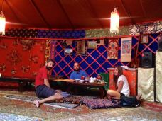 .. in a yurt