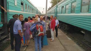 leaving Semey by train