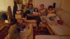 menawhile us having movie night