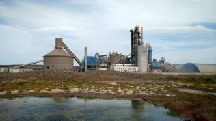 a cement factory, the only work in 2000km it seems