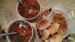 big lunch and sampling Uyghur cuisine