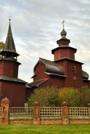 a beautiful all-wooden church