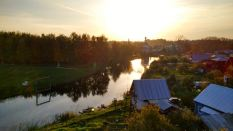 sunset over Suzdal