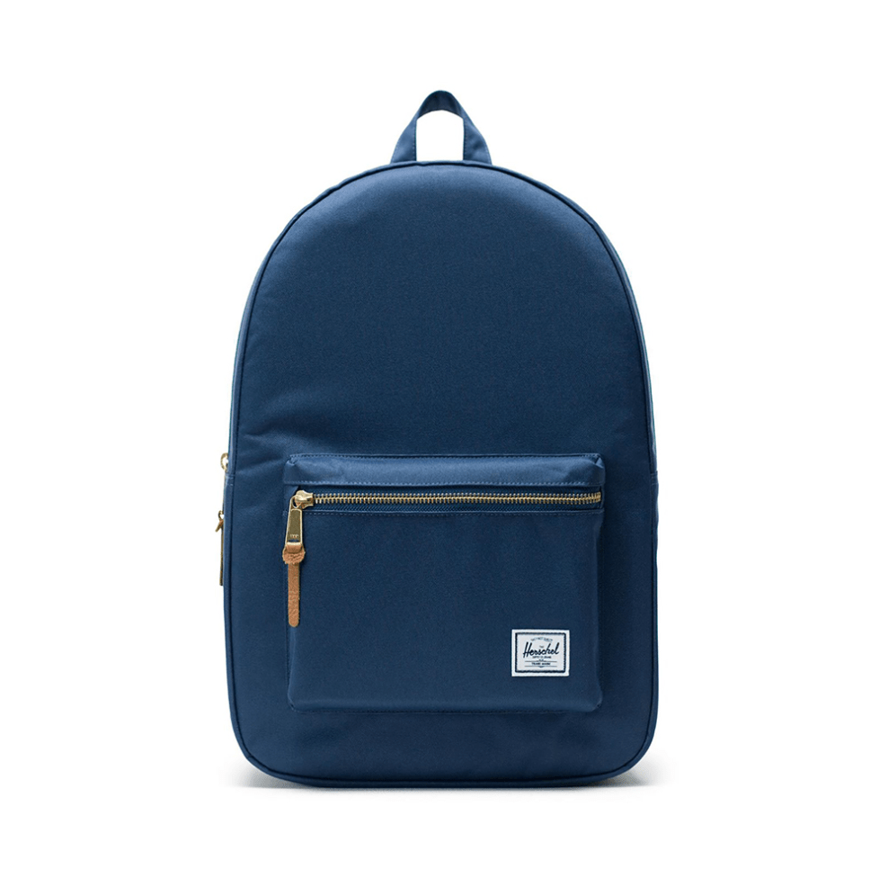 Blue Herschel Classic backpack with a clean and simple silhouette that is perfectly tailored to fit your style and back.