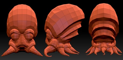 """The Squid."" CreatureBox concept: Low Poly Mesh"