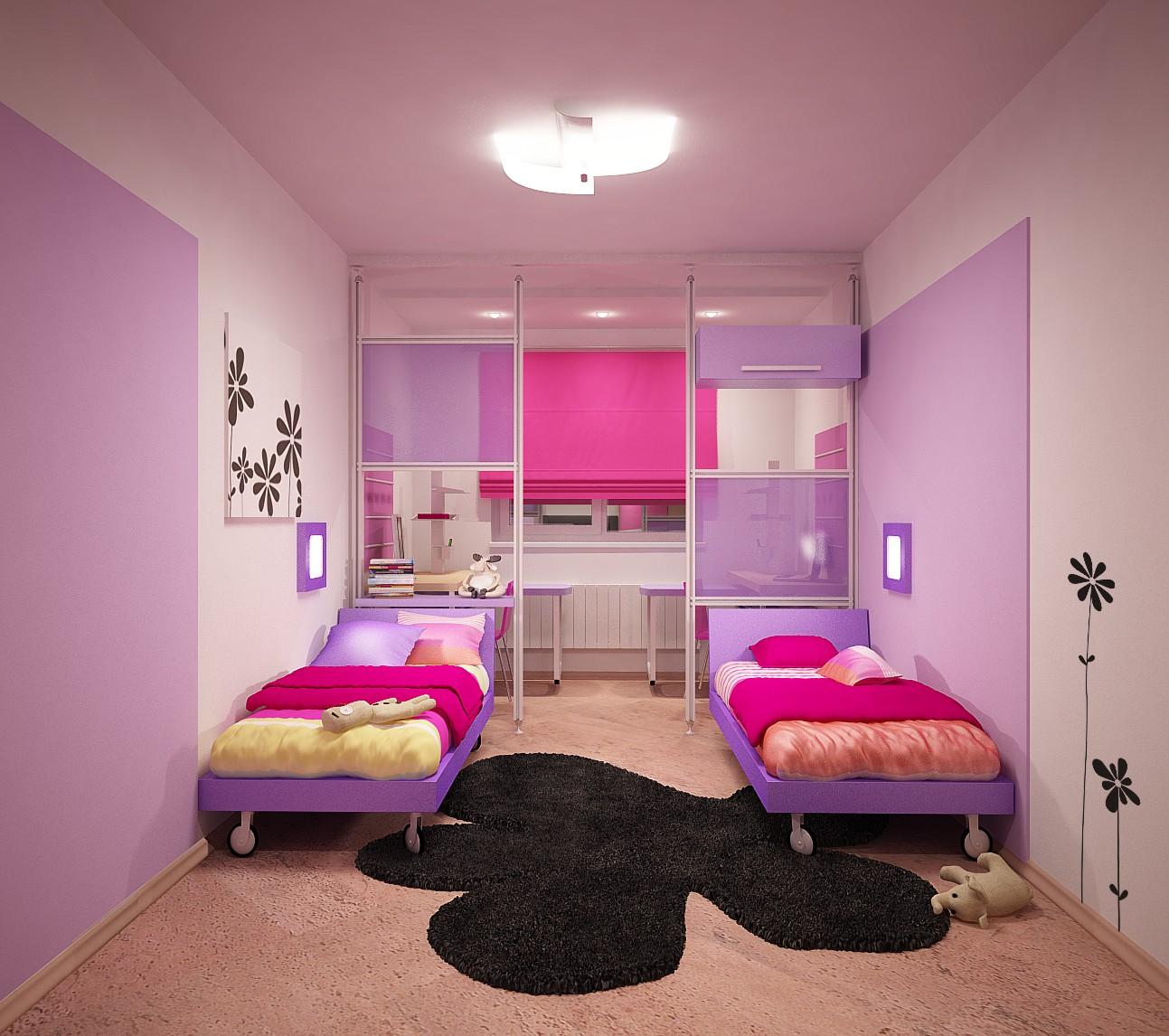 дизайн комнаты для двух девочек подростков в современном стиле 5