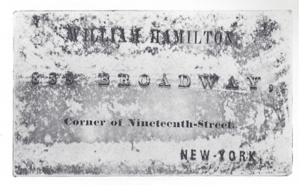 Rare artist's business card, found within a wealth of period household items, which also included many desirable paintings collected by the Dusenberry family at turn of the century.