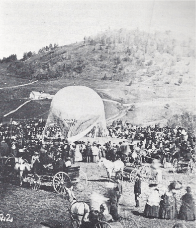 Rare photo of inflating balloon circa 1860, along with daguerreotypes and tintypes, including many early tennis club photograph circa 1885