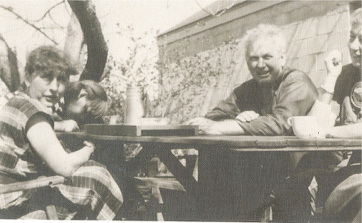 Mrs. Robbins with Alexander Calder, circa 1950