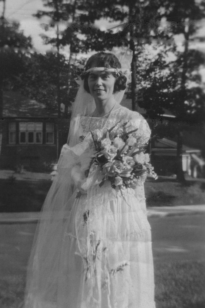 Helen Price on her wedding day