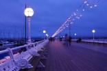 Princess Pier by night.