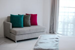 violet and emerald pillows