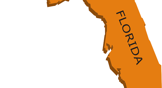 A separate part of the map showing Florida.
