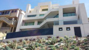 beach house with big windows