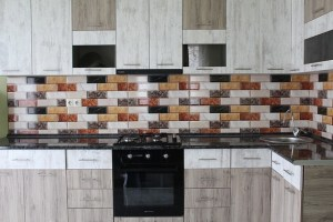 Kitchen in various colors