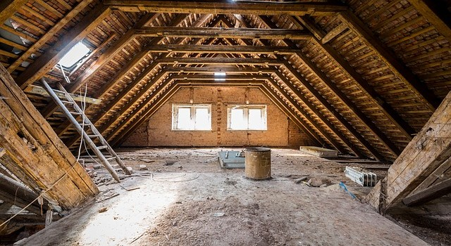 An attic.