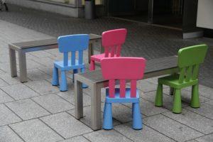 Miniature furniture for kids.