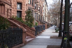 Row of old houses in Brooklyn Heights.