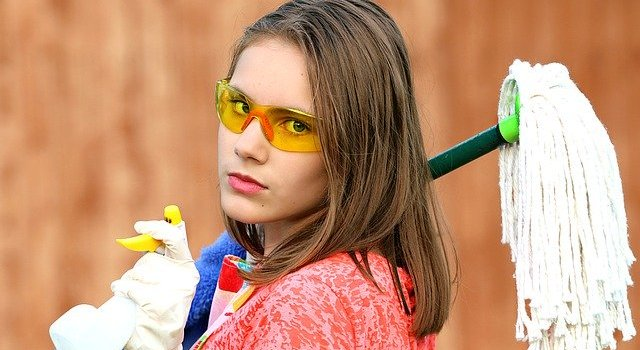 Woman thinking about keeping your NJ home clean while remodeling.