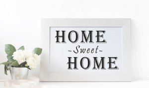 Frame Welcome Home