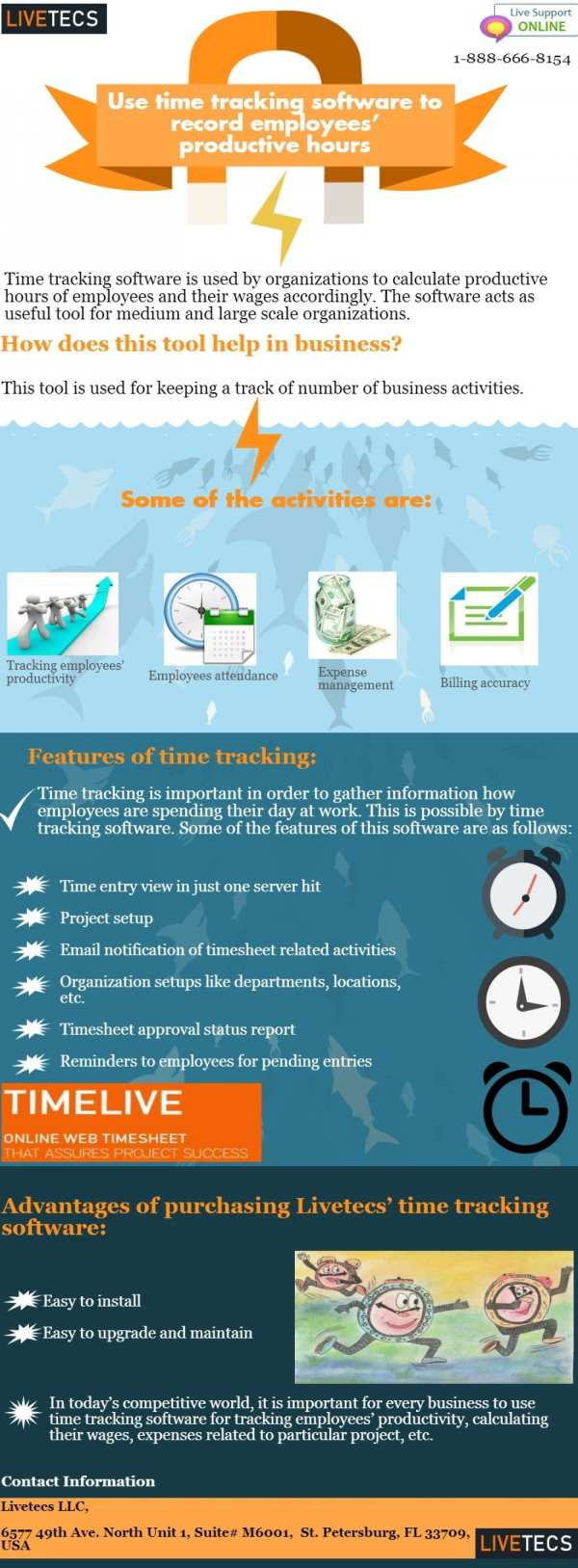 List of benefits to using time tracking software for employees